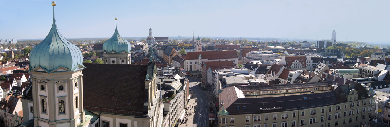Augsburg mit St. Peter Panorama