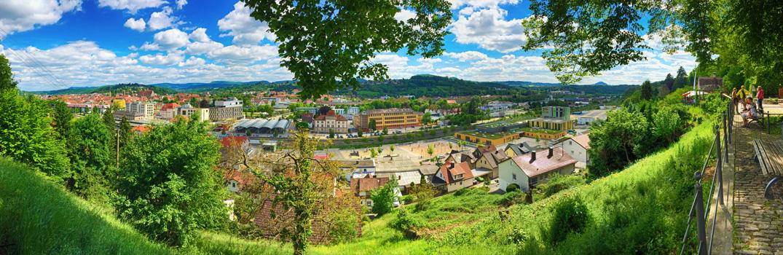 Blick auf Schwäbisch Gmünd in Baden-Württemberg