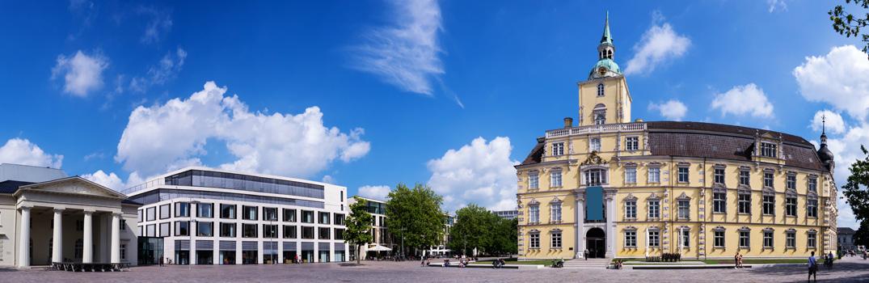 Blick auf das Landesmuseum in Oldenburg