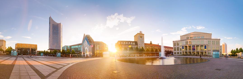 Panorama vom Leipziger Augustusplatz