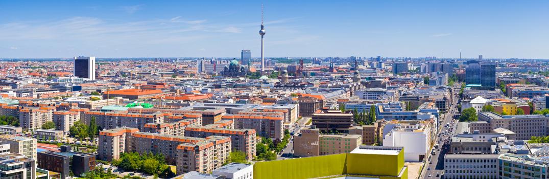 Panorama von Berlin mit Fernsehturm