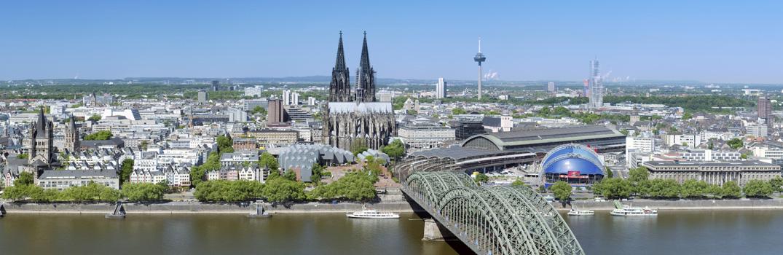 Stadtpanorama von Köln