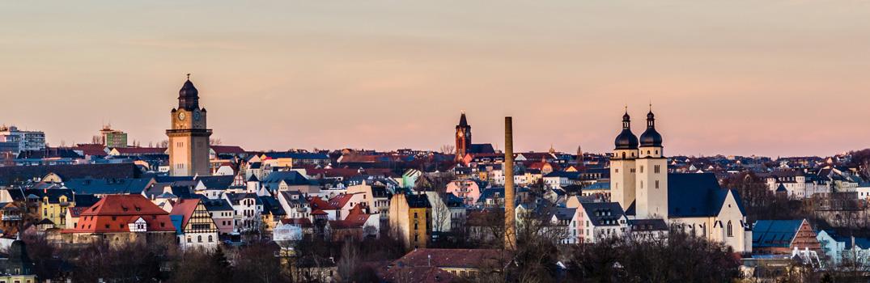 Stadtpanorama von Plauen