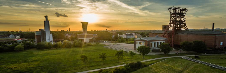 Blick auf die Zeche Consol in Gelsenkirchen